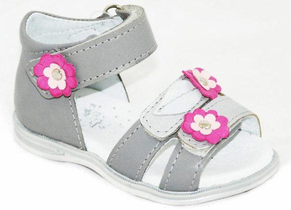 GG20_26_OS Gray Leather Sandal