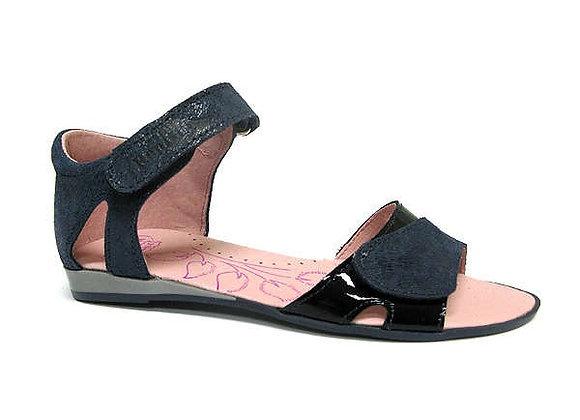 RBG31_4333_0112_OS Navy Leather Sandals