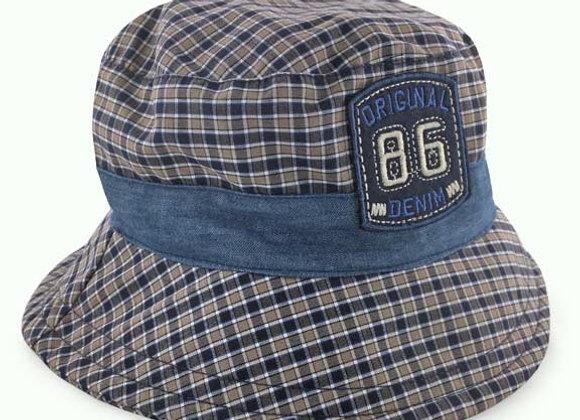 MB_FRE_SH Navy Checkered Summer Bucket Hat