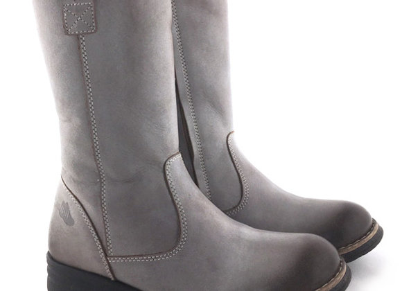 RBG32_4271_WB Gray Leather Boots