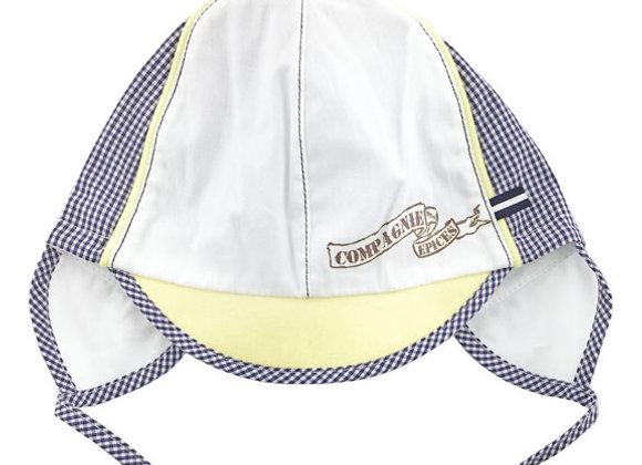 JB_16022_SH White-Navy-Yellow Summer Hat