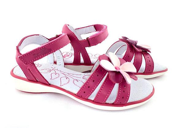 RBG31_4221_OS Magenta Leather Sandals