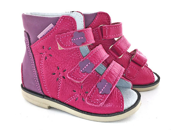 MGOR209_OS Magenta Purple Leather Sandals