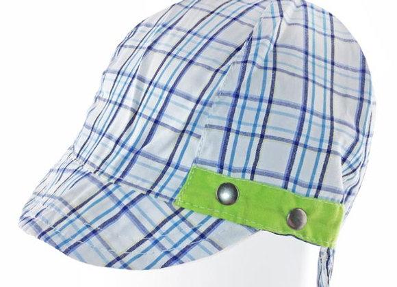 YB_043G_SH White-Navy Checkered Summer Hat