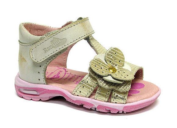RBG11_1406_0401_OS Gold Leather Sandals