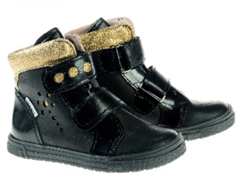MG340_BLACK_HT Black Leather High Tops