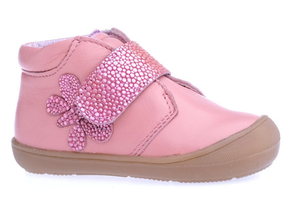 MG_1341M_HT Apricot Pink Leather High Tops