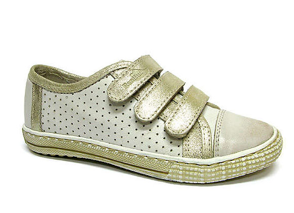 RBG33_4239_0401_S Gold Leather Sneakers