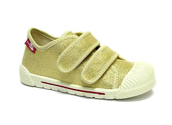 RBG33_383_0401 Gold Canvas Sneakers