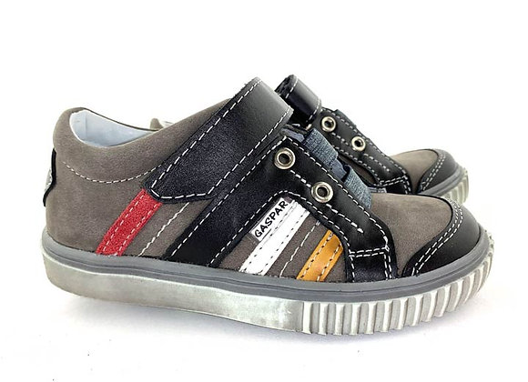 GB260_55_S Gray Leather Sneakers