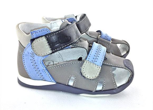 RBB11_083GB_CS Gray Blue Leather Sandals
