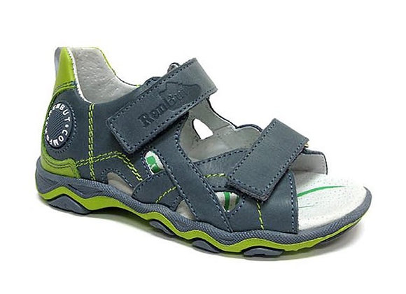 RBB21_3053J_OS Jeans Green Leather Sandals