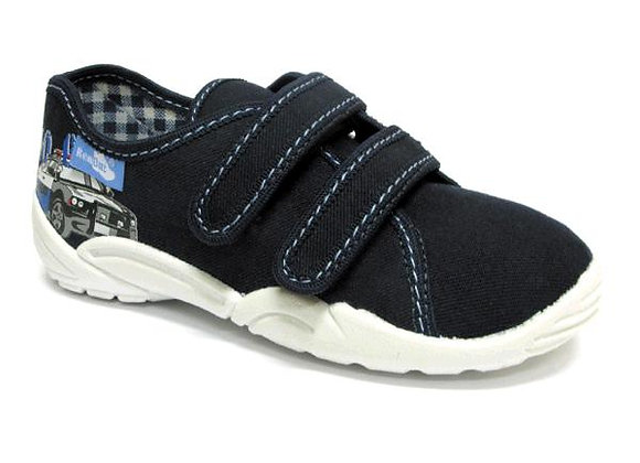 RBB33_374_0113 Navy Canvas Sneakers