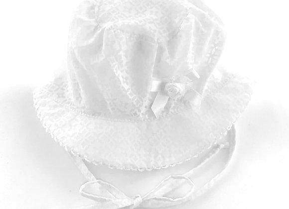 MGH5_S Light White Summer Bonnet