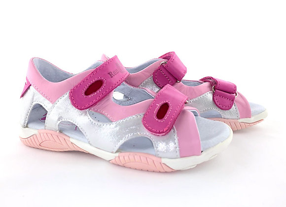 RBG31_4319_OS Silver Pink Leather Sandals