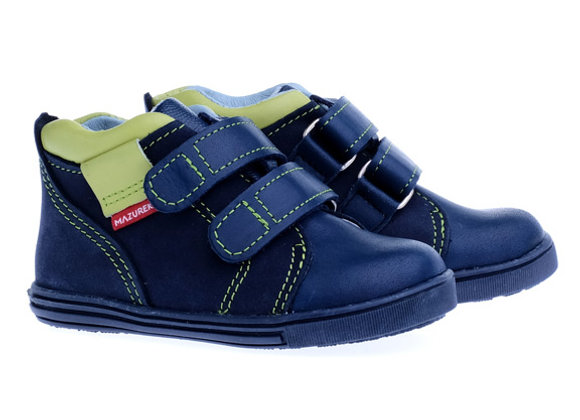 MB_302A_HT Navy Leather High Tops