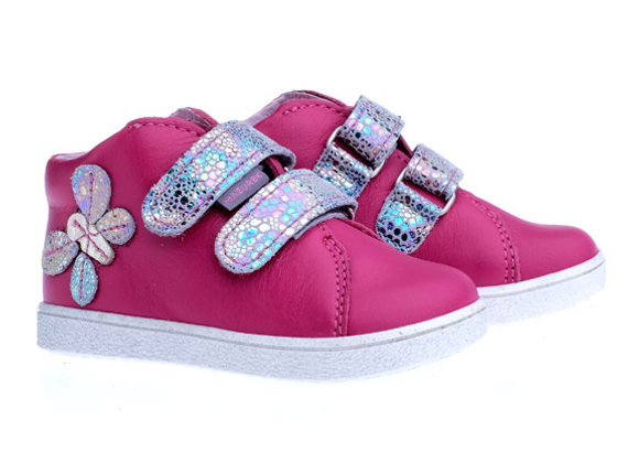 MG_1264_S Magenta Butterfly Leather Sneakers