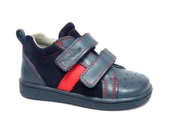 RBB13_1429R Navy Leather Sneakers