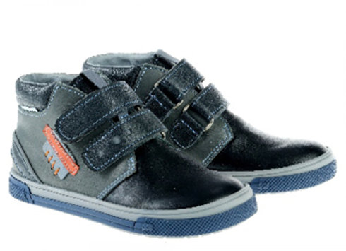 MB342_343_HT Black Gray Leather High Tops