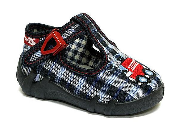 RBB13_102_0094 Checkered Truck Canvas Shoes