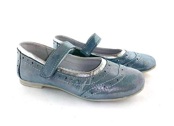 RBG33_4202_D Powder Blue Shimmer Leather Shoes