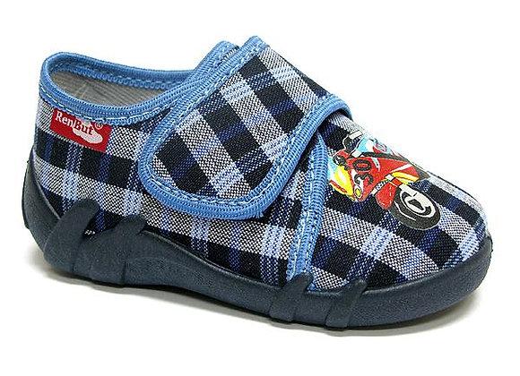RBB13_110_0094 Navy CheckeredCanvas Shoes
