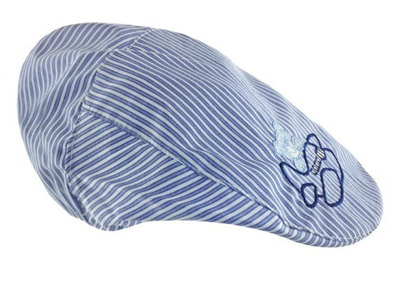 MB_MIK3_SH Blue Striped Summer Cap