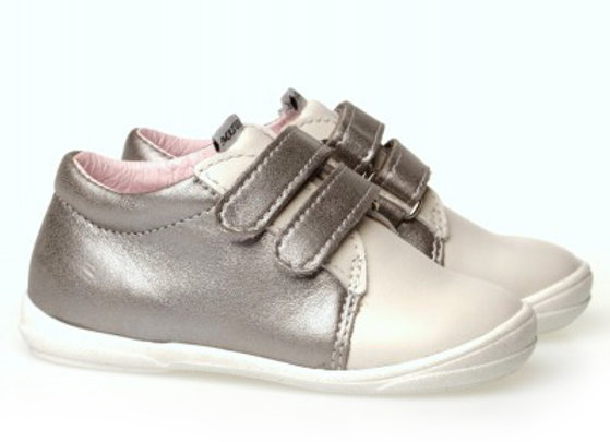 MG_1305_SILVER_W White Leather Sneakers