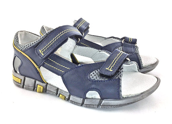 KB3460_OS Navy Leather Sandals