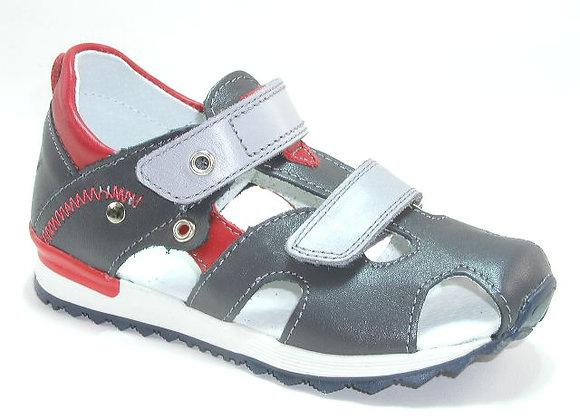 KB3750GR_CS Black Leather Sandals