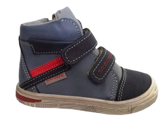 MB1260_62_63_HT Navy Leather High Tops