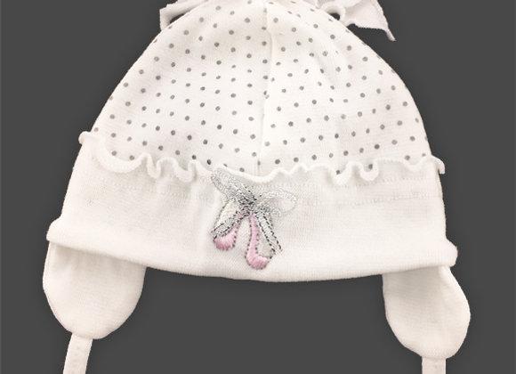 White Polka Dot Spring/Fall Light Hat