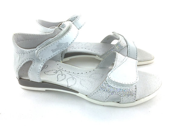 RBG31_4333_OS White-Silver Leather Sandals