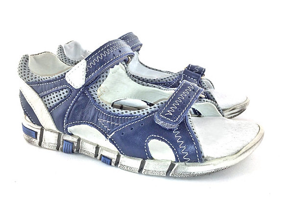 KB3469_OS Navy Leather Sandals