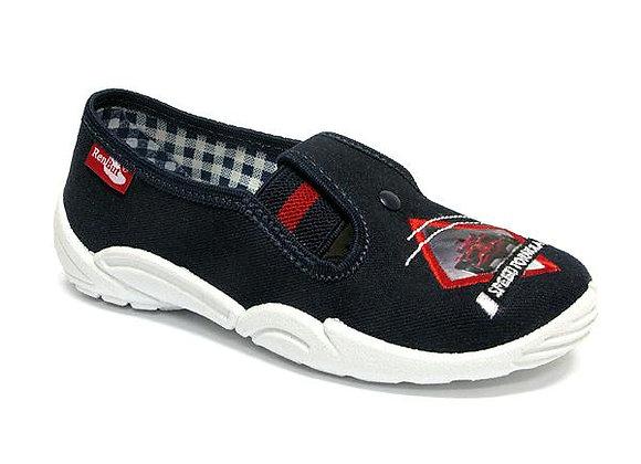 RBB33_371_0560 Navy Formula Canvas Shoes