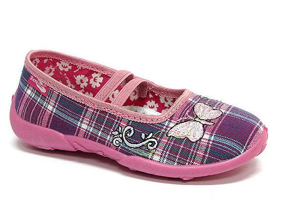 RBG33_414_0076 Purple Checkered Canvas Shoes