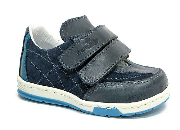 RBB13_1437_0127_S Navy Leather Sneakers