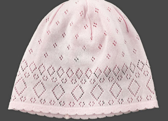 YG_LENP_SH Light Pink Crochet Spring Hat