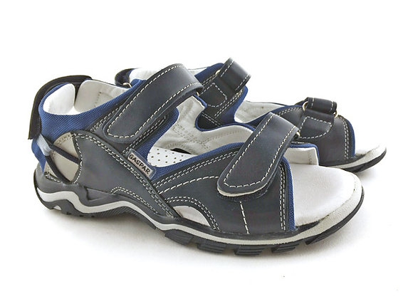 GB011_40_OS Navy Leather Sandals
