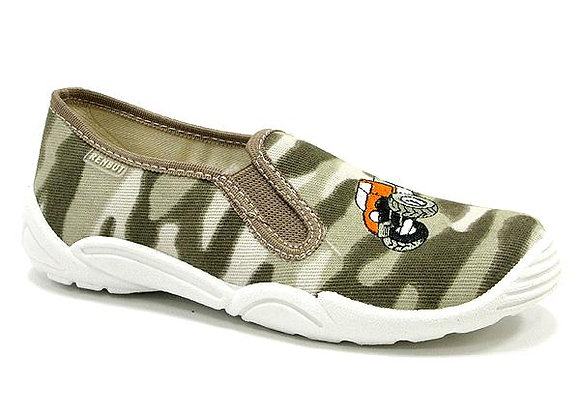 RBB33_372_0138 Camouflage Monster Truck Canvas Shoes