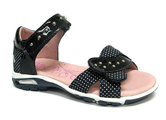 RBG21_3272_0112_OS Glossy Navy Leather Sandals