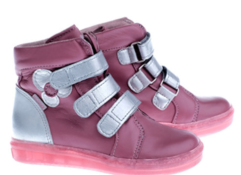 MG338_PINK_HT Soft Pink Leather High Tops
