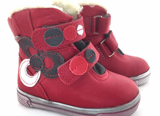 MG286_WB Red Leather Boots