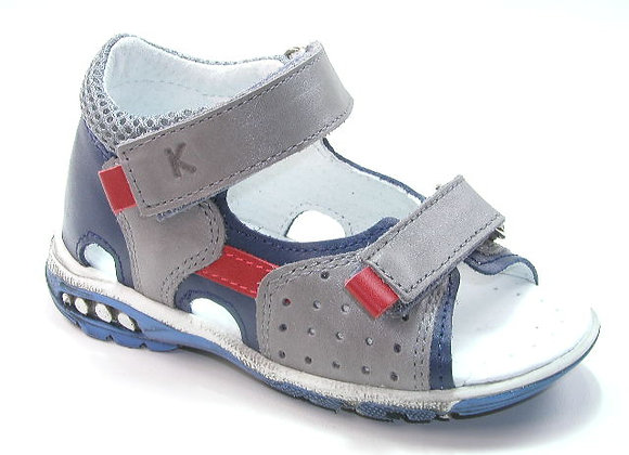 KB3970_OS Gray Leather Sandals