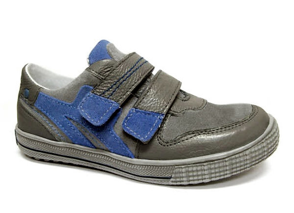 RBB33_4325_S Dark Gray Leather Sneakers