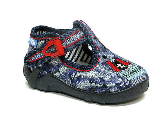 RBB13_102_0717 Navy Canvas Anchor Shoes