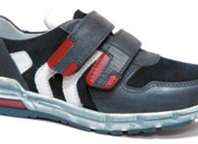 RBB33_4327_S Navy Leather Sneakers