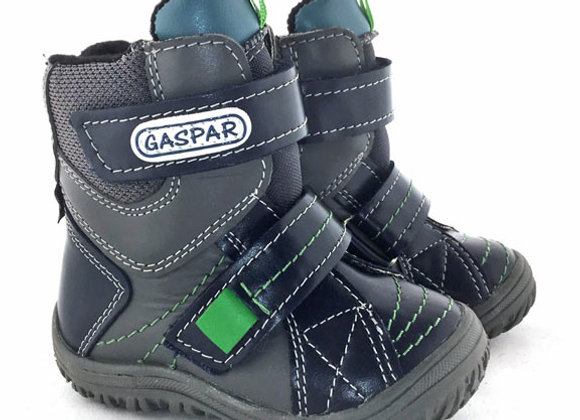 GB400_25_WB Navy - Gray Leather Boots