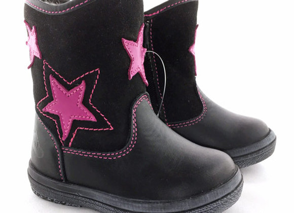RBG12_255_WB Black Star Leather Boots