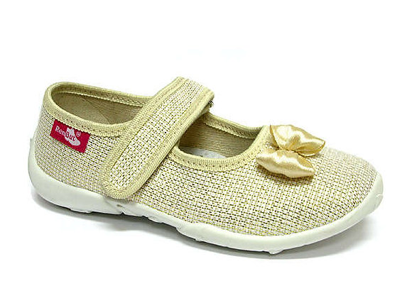 RBG33_415_P0821 Sparkly Gold Canvas Shoes